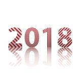 Lyckligt nytt år 2018 Illustration för textdesignvektor royaltyfria bilder
