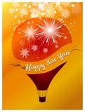 Lyckligt nytt år med ballongbegrepp Arkivfoto
