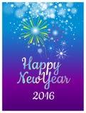 Lyckligt nytt år med ballongbegrepp Arkivbilder