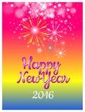 Lyckligt nytt år med ballongbegrepp Fotografering för Bildbyråer