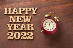 Lyckligt nytt år 2022 med klockan arkivbilder