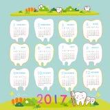 Lyckligt nytt år med tanden stock illustrationer