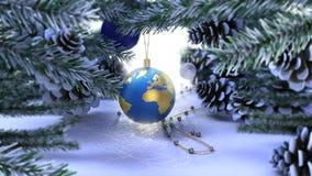 Lyckligt nytt år och glad julbakgrund Arkivbild