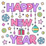 lyckligt nytt år också vektor för coreldrawillustration Fotografering för Bildbyråer