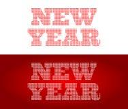 Lyckligt nytt år - ord 'nytt år 'som gör av 'de lyckliga 'orden, vektor illustrationer