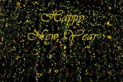 Lyckligt nytt år på mörk bakgrund Royaltyfria Foton