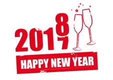 Lyckligt nytt år - röd illustration Royaltyfria Bilder