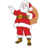 Lyckligt nytt år Santa Claus Arkivbilder