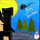 Lyckligt nytt år santa för glad jul Royaltyfria Foton