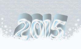 Lyckligt nytt 2015 år snökort Royaltyfri Fotografi