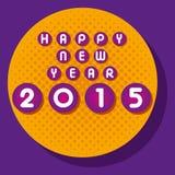 Lyckligt nytt år som hälsar 2015 Royaltyfri Fotografi