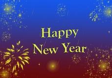 Lyckligt nytt år som hälsar glänsande blänka för stjärnor royaltyfri illustrationer