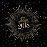 Lyckligt nytt år Starburst Arkivfoto