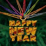 Lyckligt nytt år tillsammans royaltyfri illustrationer