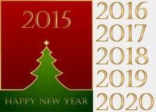 lyckligt nytt år Uppsättning Vektor Illustrationer