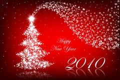 lyckligt nytt rött år 2010 för bakgrund Arkivbild