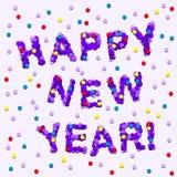 lyckligt nytt år för konfettiar Royaltyfria Bilder