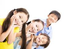 Lyckligt och skratta små ungar Royaltyfria Foton