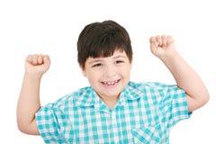 lyckligt over för pojke Arkivfoto