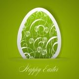 Lyckligt påskhälsningskort royaltyfri illustrationer