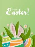 Lyckligt papper för påskhälsningkort Royaltyfri Foto