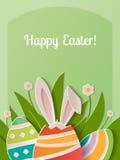 Lyckligt papper för påskhälsningkort Royaltyfria Foton