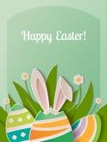 Lyckligt papper för påskhälsningkort Royaltyfri Bild