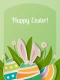 Lyckligt papper för påskhälsningkort Royaltyfria Bilder