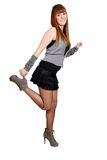 lyckligt posera för flicka som är tonårs- royaltyfri fotografi
