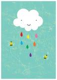 lyckligt regna för dag arkivfoto