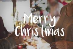 Lyckligt rostat brödbegrepp för glad jul Arkivfoto