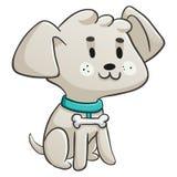 Lyckligt sammanträde för liten hund Royaltyfri Bild