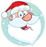 Lyckligt Santa Claus Face Classic Cartoon Mascot tecken vektor illustrationer