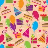 lyckligt seamless för födelsedag Arkivbilder