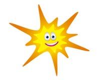 Lyckligt seende solsken med den log framsidan Royaltyfri Fotografi