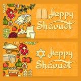 Lyckligt Shavuot kort Arkivfoto