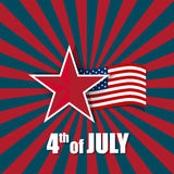 Lyckligt självständighetsdagenkort, 4th av Juli, abstrakt backgr för vektor Royaltyfria Bilder