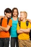 Lyckligt skola ungar Royaltyfri Bild