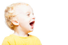 Lyckligt skratta barn Arkivfoton