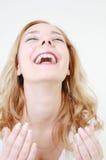 lyckligt skratta för flicka Royaltyfria Foton