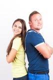 lyckligt ståendebarn för par Arkivfoto