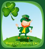 Lyckligt St Patrick s dagkort Royaltyfria Bilder