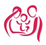 lyckligt symbol för familj royaltyfri illustrationer