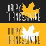 Lyckligt tacksägelseaffischkort i plan stil Arkivbilder