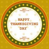 Lyckligt tacksägelsedagkort Arkivfoto