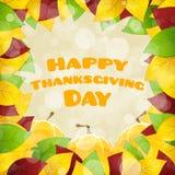 Lyckligt tacksägelsedagkort royaltyfri illustrationer