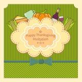 Lyckligt tacksägelsedagkort Royaltyfri Bild
