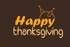 Lyckligt tacksägelsekort eller bakgrund med kalkon vektor illustrationer