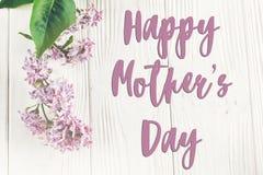 Lyckligt tecken för text för dag för moder` s, hälsningkort lyckliga mödrar för dag Royaltyfria Foton