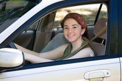 lyckligt teen för chaufför royaltyfria bilder